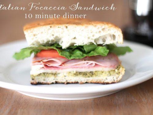 Italian Focaccia Sandwich 10 Minute Recipe Julie Blanner