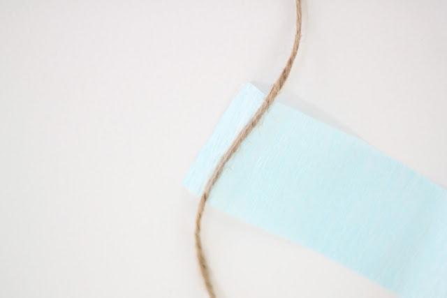 Paper and burlap string