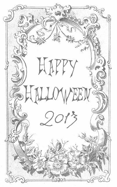 Printable Happy Halloween 2013 coloring page