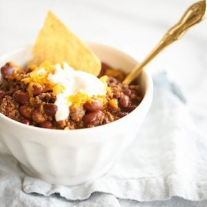 easy 10 minute dinner, homemade chili recipe