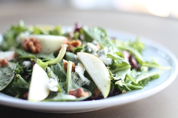 fall salad recipe with apple cider vinaigrette
