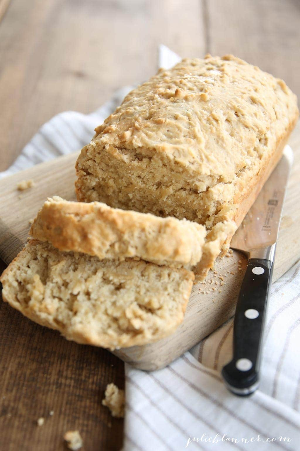 This beer bread recipe is so quick & easy that it's ready to go before your oven is preheated!