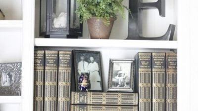 bookcase styling tips