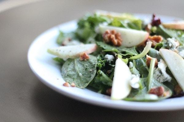 Fresh Fall Salad recipe with apple cider vinaigrette