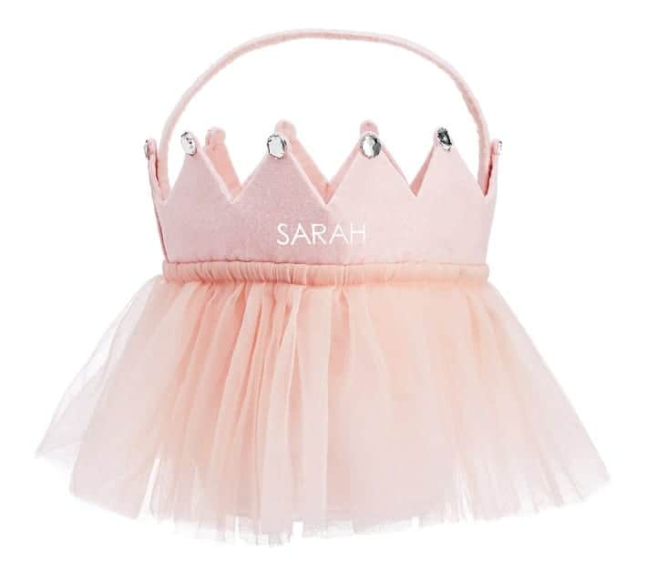 pink princess halloween bucket