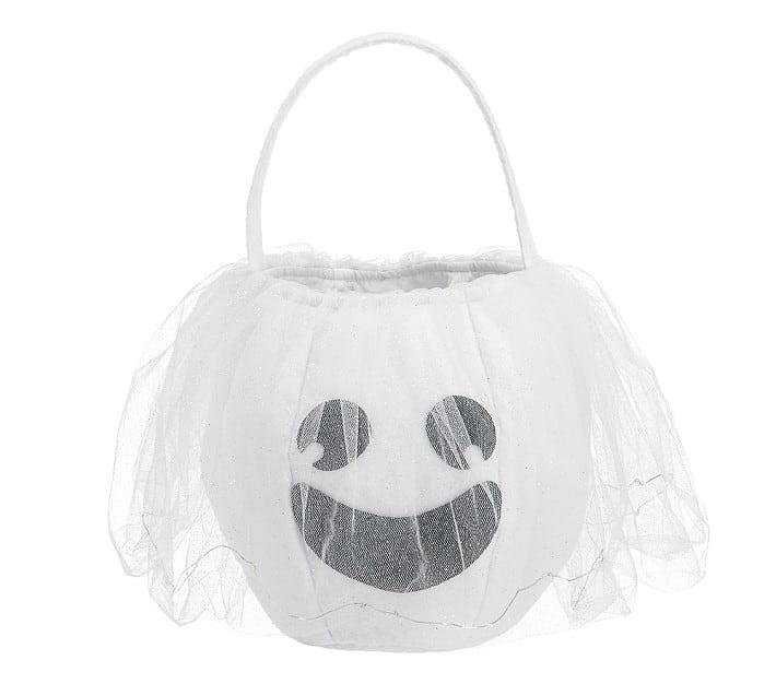 white ghost treat bucket