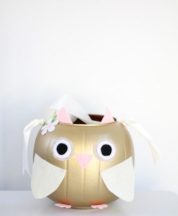 owl halloween treat bucket