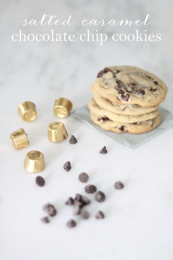 Salted Caramel Chocolate Chip Cookies Recipe