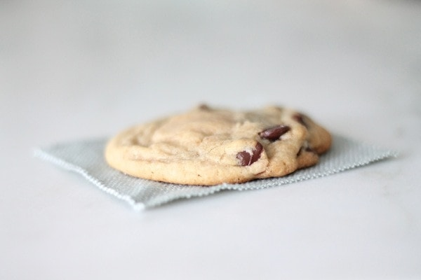 A cookie on a work surface