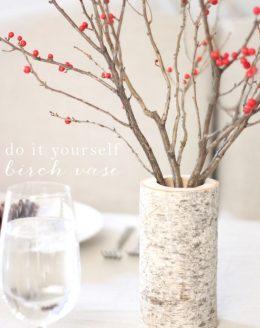 diy birch vase easy holiday centerpiece
