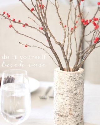 diy birch vase easy holiday centerpiece