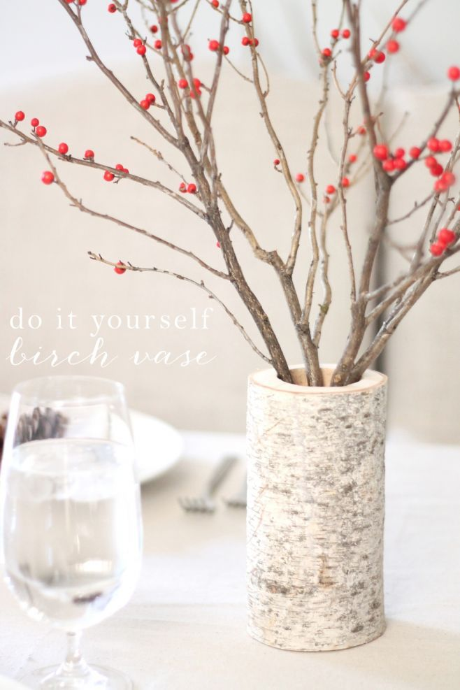 DIY Birch Vase Julie Blanner Entertaining amp Home Design
