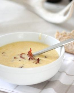 bacon beer & cheese soup