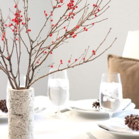 birch wood holiday decor