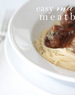 the easiest meatball recipe