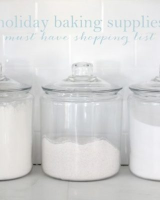 essential holiday baking supplies