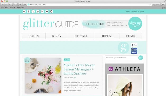 Lifestyle blogger & entertaining expert on The Glitter Guide
