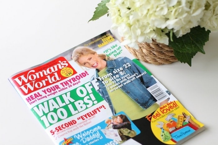 Lifestyle blogger & entertaining expert Julie Blanner featured in Woman's World Magazine