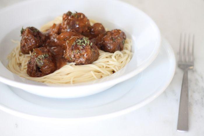 spaghetti with marsala meatballs recipe