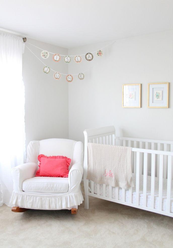 stationary inspired girl's nursery