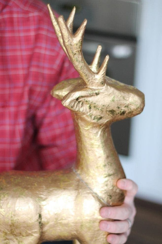 Diy paper mache stag - Cardboard stag head ...