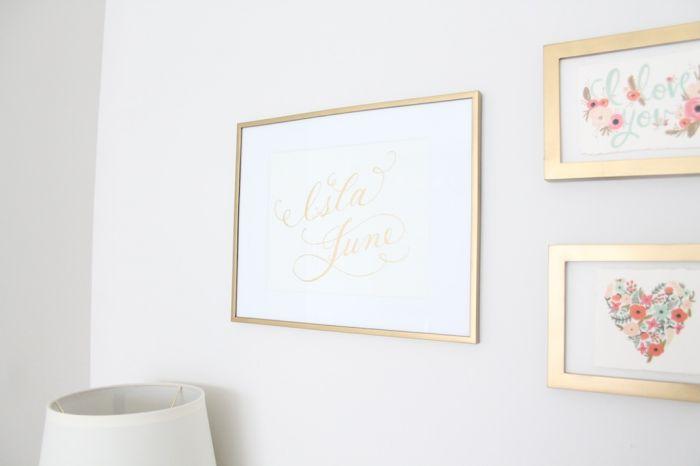 baby gift - calligraphy art