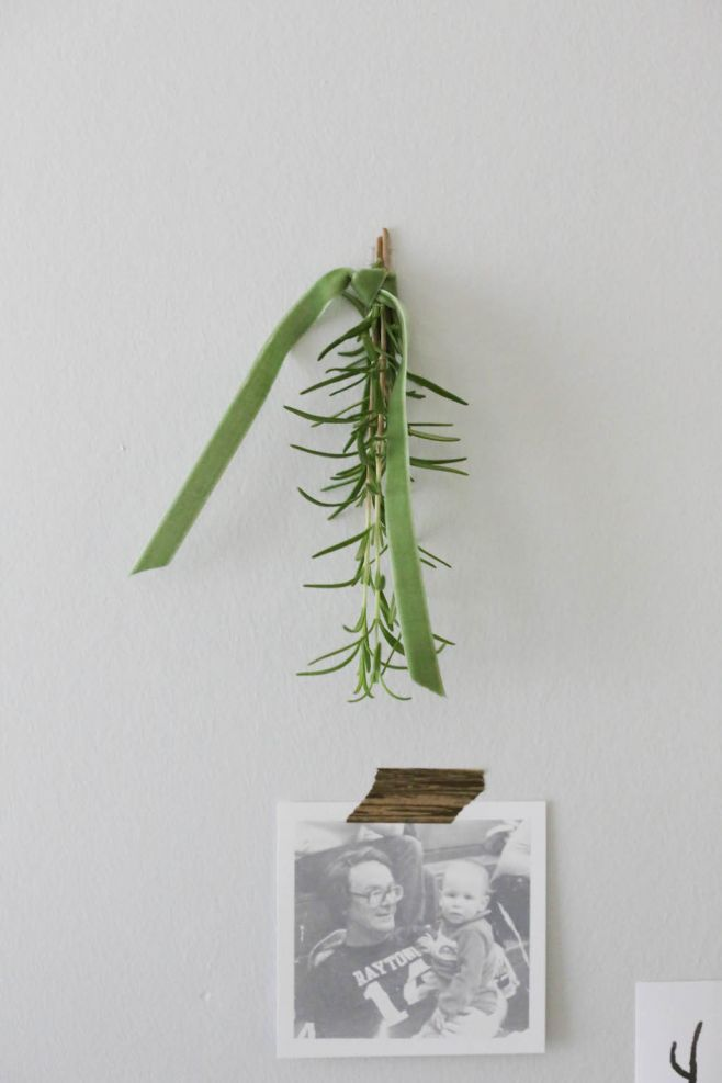rosemary as Thanksgiving dinner table decorations