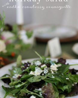 holiday salad recipe with vodka cranberry vinaigrette