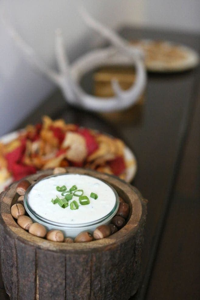 Blue Cheese Dip - 5 minute flavorful appetizer