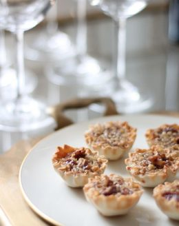 bite sized caramel pecan pies - great holiday dessert