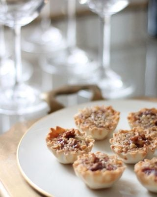 bite sized caramel pecan pies - great holiday dessert