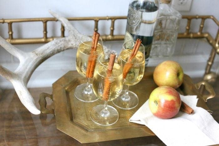 Thanksgiving Signature Drink - apple cider cocktail