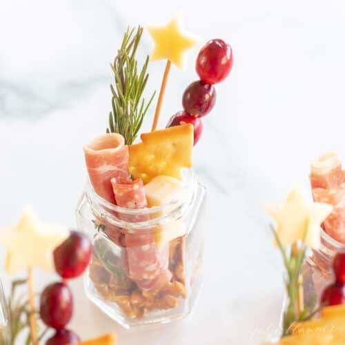 christmas charcuterie in a jar