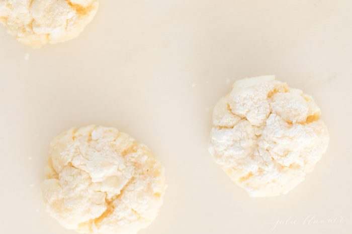 Three gooey butter cookies