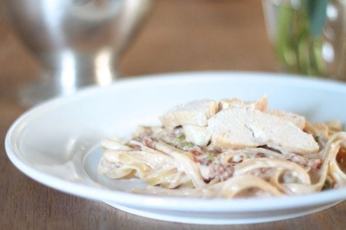 pasta carbonara recipe with chicken