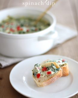 10 minute Creamy Spinach Cheese Dip recipe