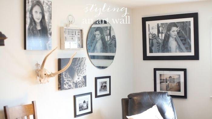 styling an art wall