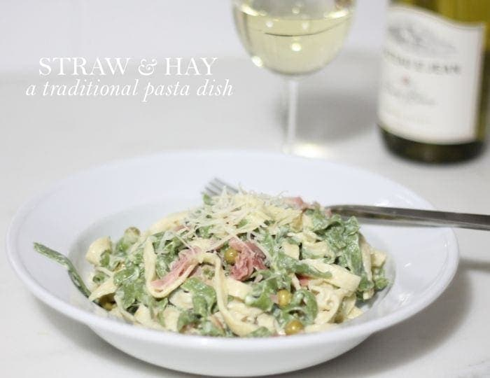 A beautiful & flavorful traditional Italian dish that's prepared with ease - Straw & Hay recipe