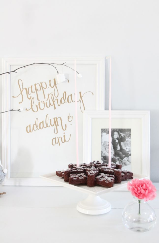 a simple but beautiful winter birthday party