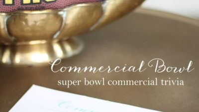 free printable Super Bowl commercial trivia