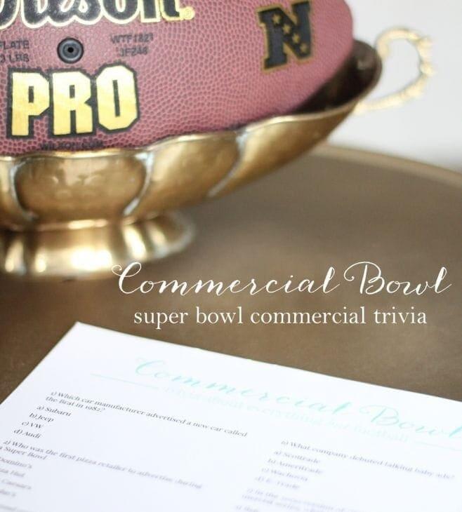 free printable Super Bowl commercial trivia