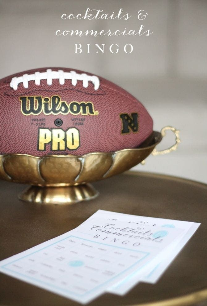 free printable super bowl game - bingo
