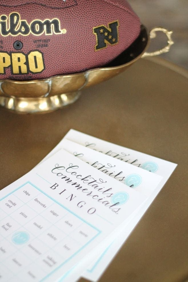 A close up of a piece of bingo paper