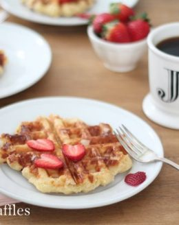 the best Belgian waffle recipe - hands down!