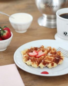 the best Belgian waffle recipe - hands down! Great for breakfast, brunch or dessert via julieblanner.com