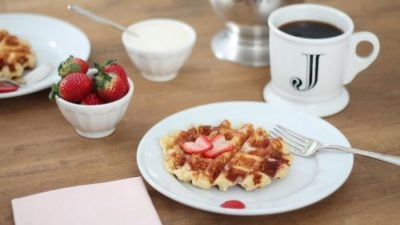 the best Belgian waffle recipe - hands down! Great for breakfast, brunch or dessert via julieblanner.com