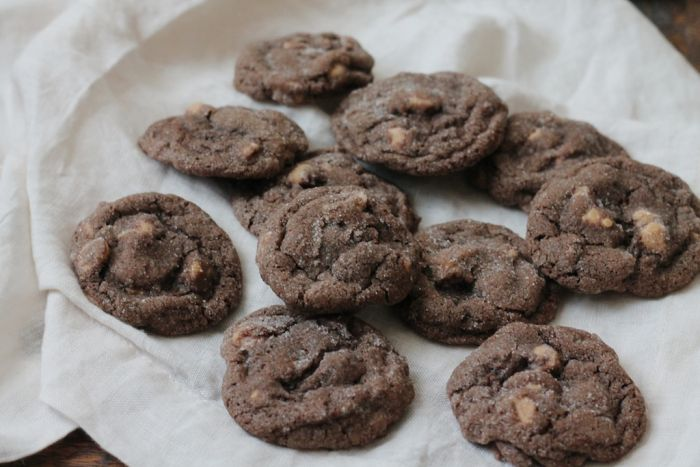 Thick, Chewy Peanut Butter Chip Chocolate Cookies