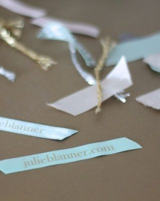 DIY confetti poppers filled with personalized ribbon | Alt Summit 2014 business cards