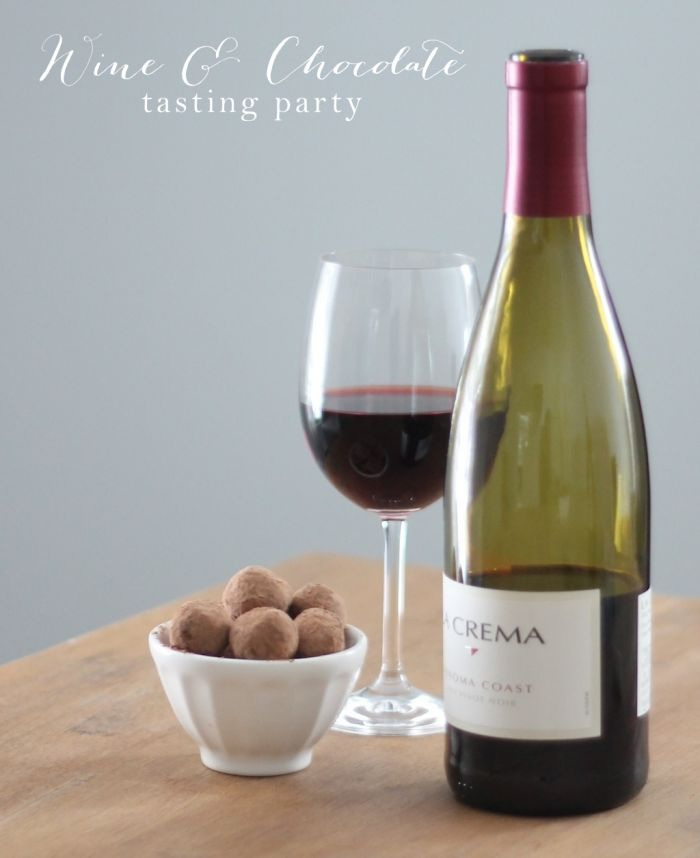 How to host a wine & chocolate tasting party | pair wine & chocolate