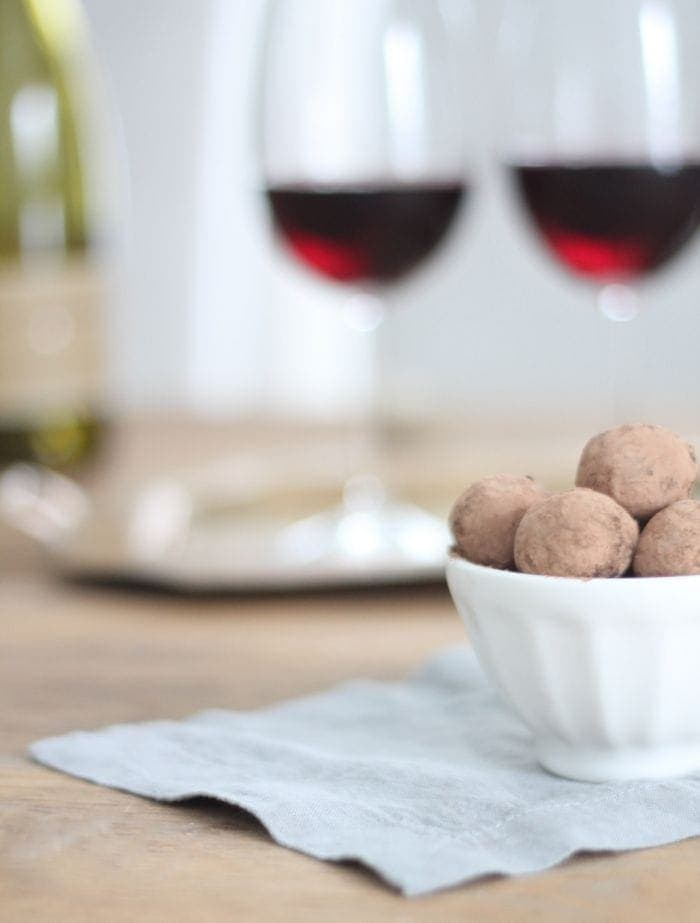 host a wine & chocolate with little effort, but a lot of love for Valentine's Day via julieblanner.com